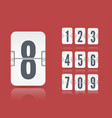 white flip scoreboard template with vector image vector image