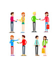 woman and man with credit card young people vector image vector image