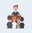business conference business meeting man at vector image