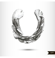 Abstract hand drawn watercolor frame vector image