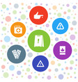 accident icons vector image vector image