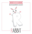 alphabet letter r and rabbit vector image vector image