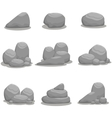 art of rock style set vector image vector image