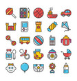 baby and kids colored icons 3 vector image vector image