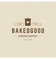 Bakery Logo Template Design Element vector image vector image
