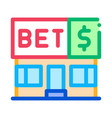 betting office gambling icon vector image