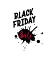black friday calligraphic handmade lettering vector image vector image