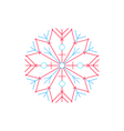 Bright Snowflake Isolated on White vector image