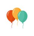 bunch balloons three colorful balloons vector image