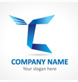 c fly logo vector image