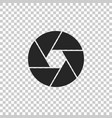 camera shutter icon on transparent background vector image vector image
