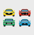car emoticon car face smiles icons set vector image vector image