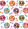 cat amp dog pattern vector image vector image