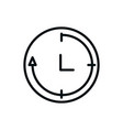 clock service shopping line style vector image