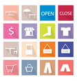 Collection of 16 Shopping Item Icons Banner vector image vector image