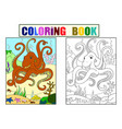color and coloring cartoon animal friends in vector image