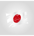 color japan national flag grunge style eps10 vector image vector image