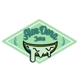 Color vintage Aloe vera emblem