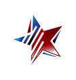 colorful star logo icon concept with decorative vector image vector image