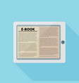 electronic book flat design concept eps 10 vector image