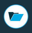 folder icon colored symbol premium quality vector image
