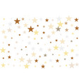 golden glitter sparkles confetti flying vector image