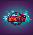 gravity mountain biking downhillfreeride grunge vector image vector image