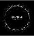 halftone circle frame black abstract random dots vector image vector image