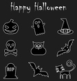 Halloween Outline Icons vector image vector image