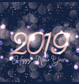 happy new year background with bokeh lights vector image vector image