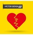 heart love design vector image vector image