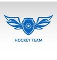 Hockey team Heraldic logo vector image