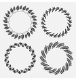 Laurel wreath tattoo set Black ornaments nine vector image vector image
