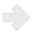 mesh arrow right icon vector image vector image