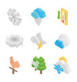 meteorological conditions icon set vector image