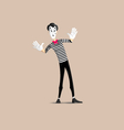 Mime pantomime vector image vector image