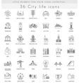 Modern City life ultra modern outline line vector image vector image