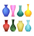 modern vases collection vector image vector image