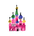 moscow red square symbols vector image vector image