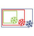 multi-colored set border frame line with corner vector image