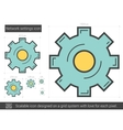 Network settings line icon vector image vector image