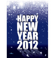 new year sparkle vector image vector image