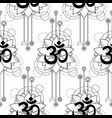 om and lotus tattoo seamless pattern vector image vector image