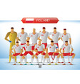 poland national football team for international vector image vector image