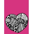 Postcard heart patchwork vector image vector image