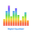 Rainbow Equalizer on White Background vector image vector image