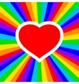 rainbow heart vector image vector image