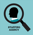 recruitment agency is looking for an employee vector image