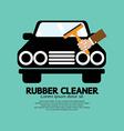 Rubber Window Cleaner vector image vector image