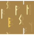 seamless background with runes vector image